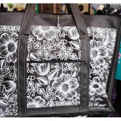 Эко сумка плотная с карманчиком 38×32×12 см