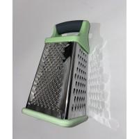 Терка кухонная 4-х гранная серо-зеленая ручка
