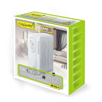 Масляный радиатор Maestro MR-950-9, гарантийный обогреватель для дома, батарея
