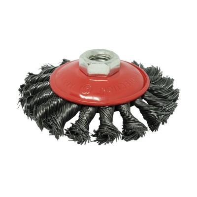 Щетка Коническая плетеная сталь 100 мм М14, 0.5 мм Зенит 35103100