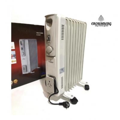 Обогреватель масляный Crownberg CB-9-S 2000W электрический на 9 Секций