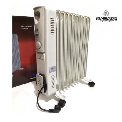 Обогреватель масляный радиатор Сrownberg CB-11-S Серый 2500W