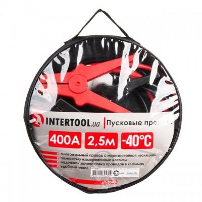 Пусковые провода 400А, 2.5м, до -40°C, чехол INTERTOOL AT-3043