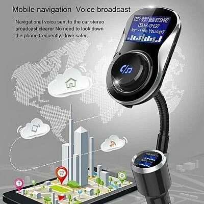 FM трансмиттеры автомобильные блютуз + громкая связь в авто + зарядка в прикуриватель +MP3 плеер + вольтметр