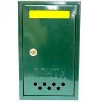 Почтовый ящик Штора с металлическим замком зелёный,коричневый,синий