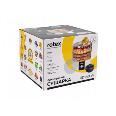 Сушилка для фруктов и овощей Rotex RD540-W
