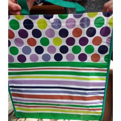 Сумка для продуктов на кнопке 40×35×10см 4 расцветки