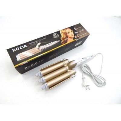 Тройная плойка для волос Rozia HR-722 с керамическим покрытием