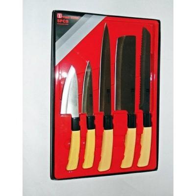 Кухонные ножи и подставки YING GUNS Голд Сан (KS-25)
