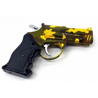Зажигалка газовая турбо с лазерной указкой 'Пистолет' (10х8х1,5 см)