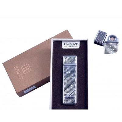 USB зажигалка в подарочной упаковке Hasat (Двухсторонняя спираль накаливания) №4800-7