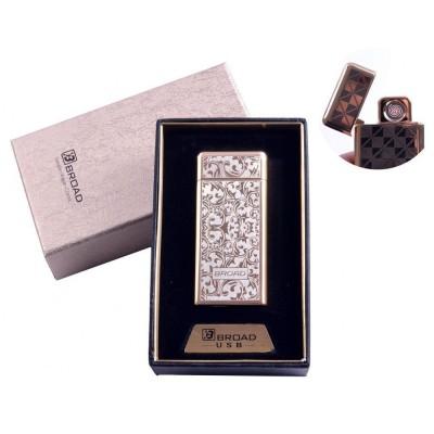 USB зажигалка в подарочной упаковке Broad (Двухсторонняя спираль накаливания) №4850-3