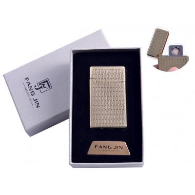 USB зажигалка в подарочной упаковке Абстракция (Двухсторонняя спираль накаливания) №4798B-5