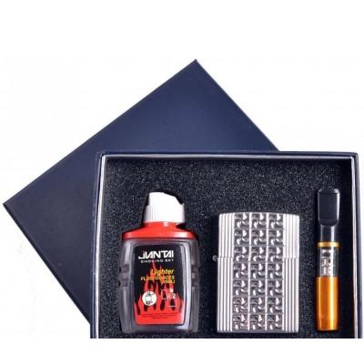 Подарочный набор 3в1 Зажигалка, бензин, мундштук №4722-6