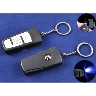 Зажигалка-брелок ключ от авто Toyota (Турбо пламя, Фонарик) №4161-1