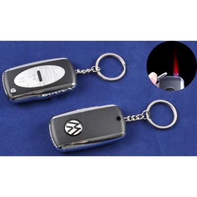 Зажигалка-брелок ключ от авто Volkswagen (Турбо пламя) №4125-4