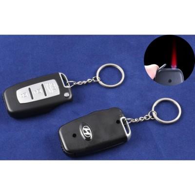 Зажигалка-брелок ключ от авто Hyundai (Турбо пламя) №4124-1