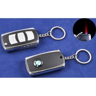 Зажигалка-брелок ключ от авто BMW (Турбо пламя) №4123-5