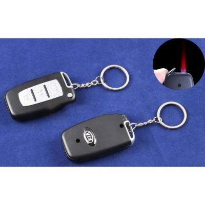 Зажигалка-брелок ключ от авто KIA (Турбо пламя) №4124-2
