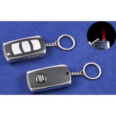 Зажигалка-брелок ключ от авто Audi (Турбо пламя) №4123-3