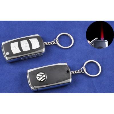 Зажигалка-брелок ключ от авто Volkswagen (Турбо пламя) №4123-2
