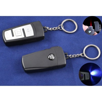 Зажигалка-брелок ключ от авто Audi (Турбо пламя, Фонарик) №4161-4