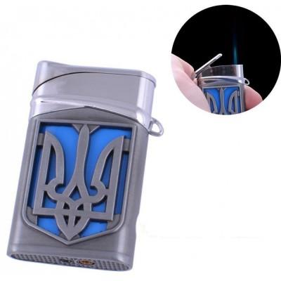 Зажигалка карманная Герб Украины (турбо пламя) №4112-2