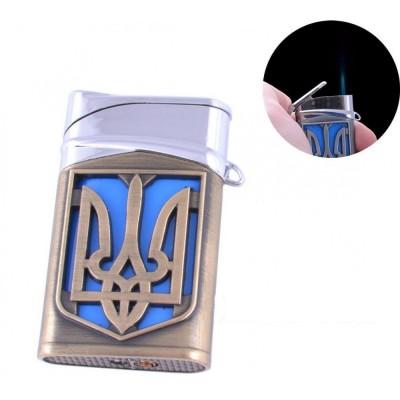 Зажигалка карманная Герб Украины (турбо пламя) №4112-1
