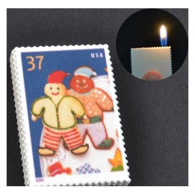 Зажигалка карманная марки Снеговик (обычное пламя) №2563-3