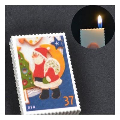 Зажигалка карманная марки Дед Мороз (обычное пламя) №2563-4