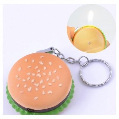 Зажигалка-брелок карманная Гамбургер №2361