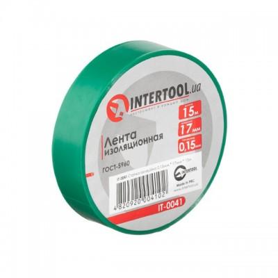 Лента изоляционная 0.15мм*17мм*15м зеленая INTERTOOL IT-0041