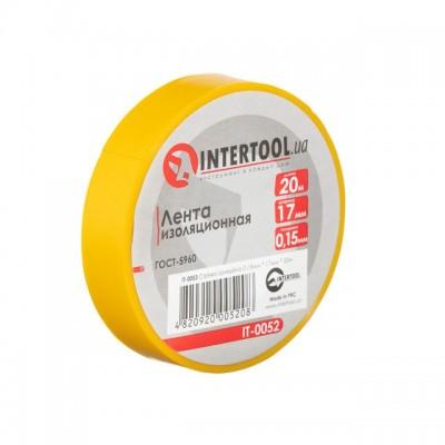 Лента изоляционная 0.15мм*17мм*20м желтая INTERTOOL IT-0052