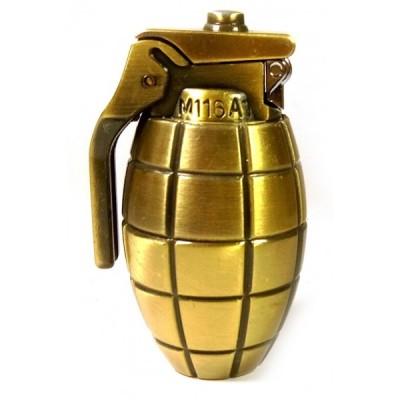 Зажигалка газовая  'Граната' 'бронза'(20 шт/уп)(6х4х3,5 см)
