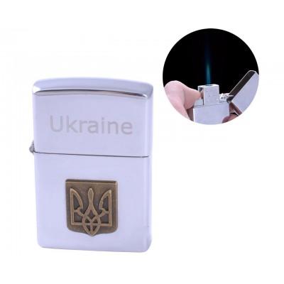 Зажигалка карманная Украина (Острое пламя) №AM-177