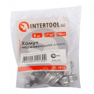 Хомут нержавеющая сталь 8 мм D 13-23 мм INTERTOOL TC-1013
