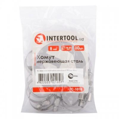 Хомут нержавеющая сталь 8 мм D 18-32 мм INTERTOOL TC-1018