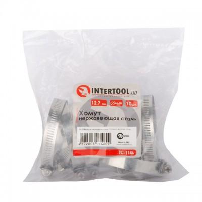 Хомут нержавеющая сталь 12,7 мм D 46-70 мм INTERTOOL TC-1146