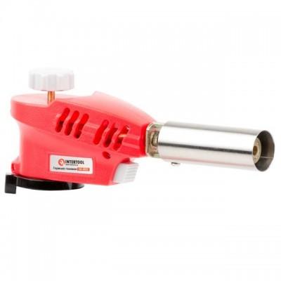Горелка газовая, пьезозажигание на курке, регулятор, рассекатель пламени INTERTOOL GB-0023