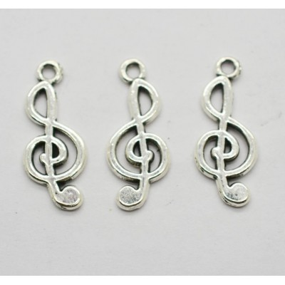 Подвеска скрипичный ключ, 25х10мм, 25шт, цена за упаковку