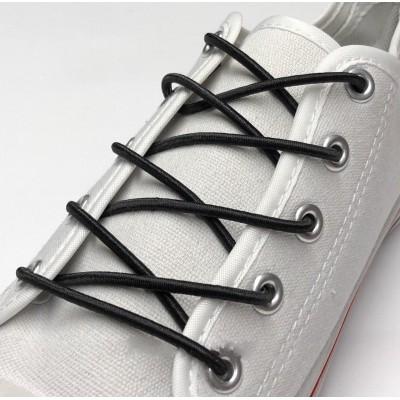 Шнурок резиновый круглый.120 см. Цвет черный