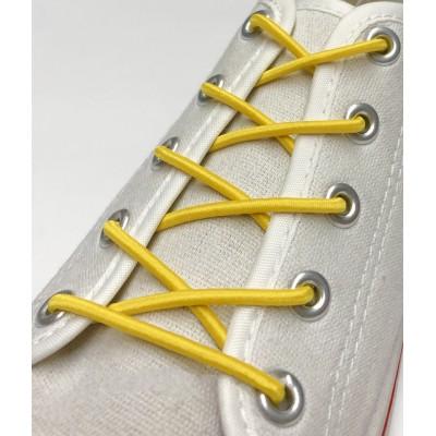 Шнурок резиновый круглый.100 см. Цвет желтый