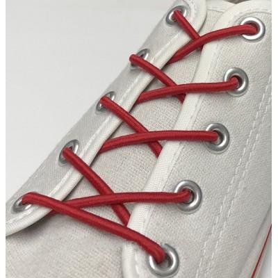 Шнурок резиновый круглый.70 см. Цвет красный