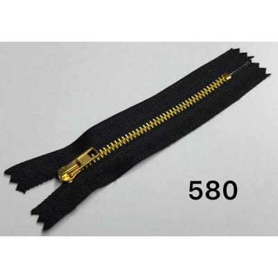 Молния Джинсовая т-4 12 см Цвет Черный + золото