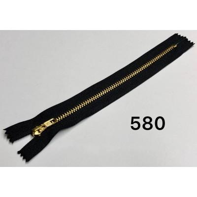 Молния Джинсовая т-4. 18 см Цвет Черный + золото