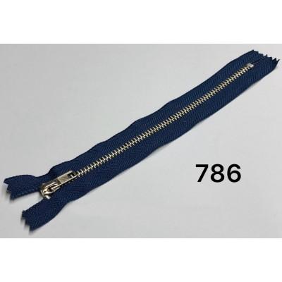 Молния Джинсовая т-4 18см Цвет Темно-синий + никель