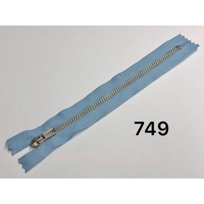 Молния Джинсовая т-4 18см Цвет Голубой + никель