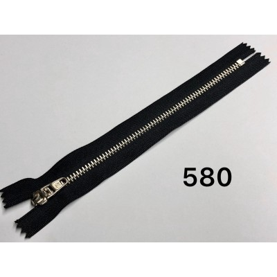 Молния Джинсовая т-4.5 18см Цвет черный + никель