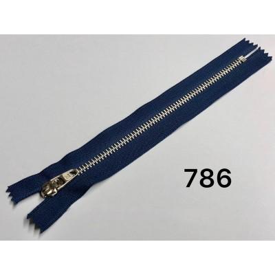 Молния Джинсовая т-4.5 18см Цвет Темно-синий + никель