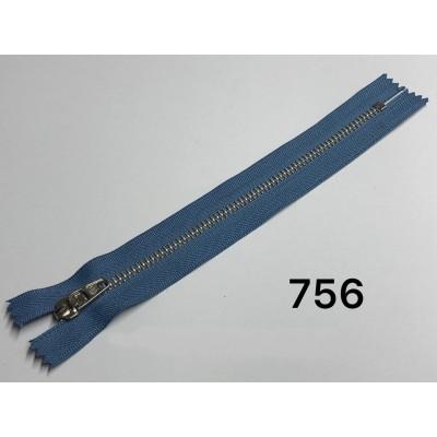 Молния Джинсовая т-4.5 18см Цвет Голубой + золото